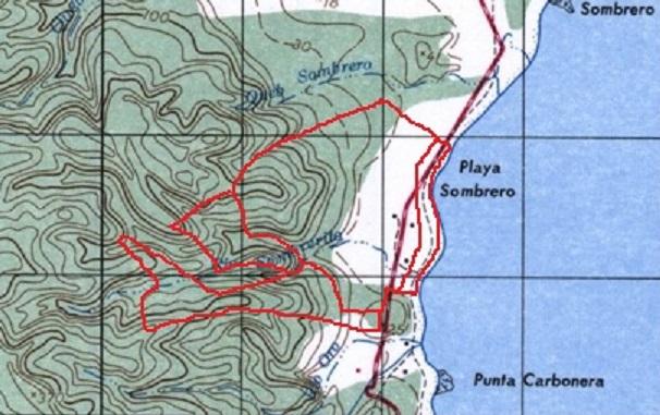 Osa Peninsula Base Topo sanma